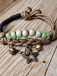 china Ball Wrap Strand Bracelet with Star Pendant
