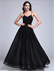 2017 TS Couture® Formal Evening Dress A-line Spaghetti Straps Floor-length Chiffon with