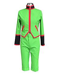 Вдохновлен охотник х Охотник Гон. Freecss Аниме Косплэй костюмы Косплей Костюмы Однотонный Зеленый Длинные Кофты / Шорты