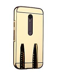 Para Funda  Motorola Espejo Funda Acolchada Funda Un Color Dura Metal Motorola Moto G3