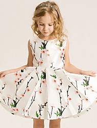 Girl's Cotton Summer Sweet Fashion Princess Dress Printing Dress