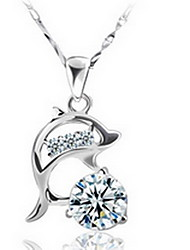 Necklace Pendant Necklaces Jewelry Party / Daily Fashionable / Adorable Sterling Silver / Alloy Silver 1pc Gift