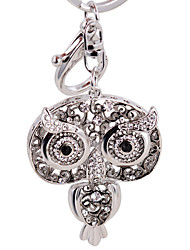 Owl Keychain Gold Silver Plated Car Key Chain Handbag