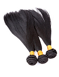 "3 Pcs Lot 12""-30"" Brazilian Silky Straight Wefts Jet Black Remy Human Hair Weave Tangle Free"