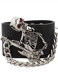 Bracelet Bracelets en cuir / Bracelet Guitare Cuir Mode / Style Punk Quotidien / Décontracté Bijoux Cadeau Noir,1pc