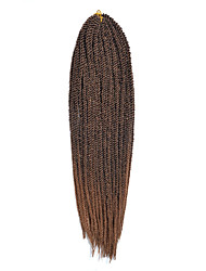 "Ombre Kanekalon Braiding Hair Senegalese Twist Hair 14""synthetic Braiding Hair Extensions Crochet Braid Hair"