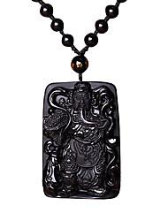 Муж. Ожерелья с подвесками Кулоны Агат Мода Черный Бижутерия Повседневные 1шт
