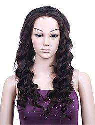 100% dentelle cheveux vierge naturelle de vague de corps de couleur noire humaine perruque 10-26 pouces partie u avant de dentelle