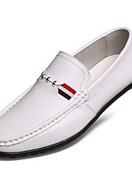 Herren-Flache Schuhe-Outddor-Leder-Flacher AbsatzSchwarz Braun Gelb Weiß