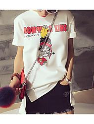 T-shirt Maternità Increspato Rotonda Manica corta Rayon