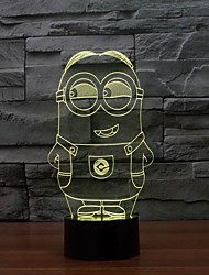 New Lovely Color Changing Colorful Night Light Lamp Toy Despicable Minions Toy Colorful Night Light