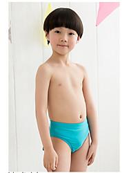 Boy's Beach Geometric Swimwear,Polyester Summer Blue / Green