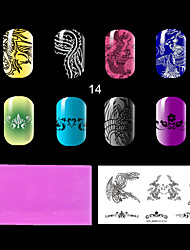 1PC The Lastest Style Ret Environmental  Plastic  Lovely Nail Stamping Plate with Fashion Pattern. (KD-SM612-014)
