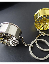 Creative Wheel Modified Car Key Ring Pendant Modified Metal Key Ring Influx Of People Stranded Small Gifts