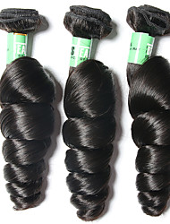 brasileiro onda cabelo virgem solta 3 feixes total de extensões de tecer 300g não transformados virgem do cabelo humano