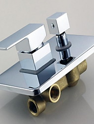 Shower Faucet Contemporary Brass Chrome
