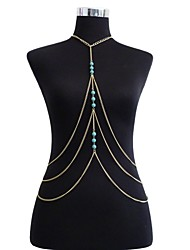 Fashion Simple Multi-layer Turquoise Tassel Body Chain Party / Daily / Casual 1pc
