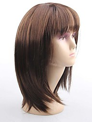 Europe and America Ladies Wigs Classical Brown Straight Synthetic Wig  Popular Daily Wearing Wigs