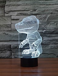 Interesting Dinosaur Shape 3D LED Night Lights Table Lamp as Children Gift Color-Changing Night Light