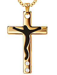 Pendentifs Métallique Cross Shape or 20