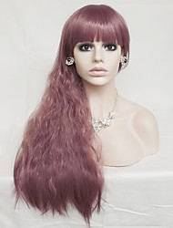 Europe And The United States Smoke Purple Corn Hot Long Curly Wig 28 Inch Hair High Temperature Wire Cosplay Wig