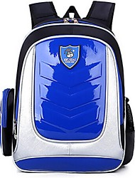 Unisex PU Formal Backpack Blue / Red