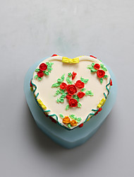 Heart Flowers  Chocolate Silicone Molds,Cake Molds,Soap Molds,Decoration Tools Bakeware