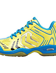 Unisex Sneakers PU Athletic Low Heel Lace-up Yellow Green Tennis Badminton