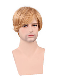 специальный мужской короткий парик 100% человеческих волос