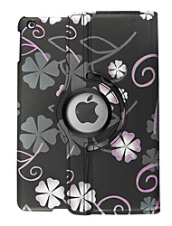 Full Body Auto Sleep/Wake Up Flower PU Leather Hard Case Cover For Apple iPad Air iPad Air