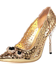 Women's Shoes Microfibre Stiletto Heel Heels / Gladiator / Pointed Toe Heels Party & Evening / Dress Gold