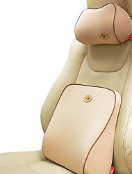40 * 42 Baumwollautositzgarnituren mit Sitzlehne 1pcs und 1pcs Sitzkopfstütze Aprikose
