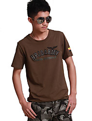 Others Men's Soft Leisure Sports Tops / T-shirt Army Green