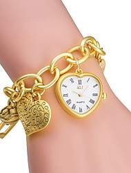 Women's Fashion Watch Bracelet Watch Quartz Japanese Quartz / Alloy Band Heart shape Silver Gold Brand ASJ