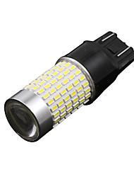 2x t20 7440 carro lâmpadas LED 3014 sinal de volta 144smd auto / freio / luz da cauda 12-24V