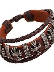 Bracelet Bracelets de rive / Bracelets en cuir Cuir Forme de Cercle Mode / Bohemia style Quotidien / Décontracté Bijoux Cadeau Café,1pc