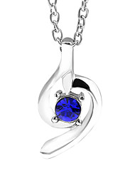 Women's Pendant Necklaces Crystal Alloy Fashion Purple Rose Blue Light Blue Champagne Jewelry Wedding Party Daily Casual 1pc