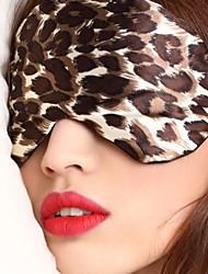 dormir viagens tipo de máscara de olho 0007 de seda de leopardo