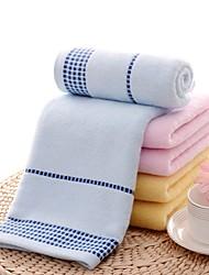 "1 Piece Full Cotton Bath Towel  55"" by 27"" Plaid Pattern Super Soft"