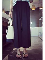 Pantalon Maternité Large simple Rayonne Micro-élastique