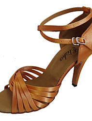 Silk With Criss-cross Strap Dance Performance Shoes For Women Customizable