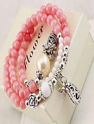 Femme Bracelets de rive Mode Bohême Cristal Gemme Forme de Cercle Bijoux Pour Quotidien Décontracté 1pc