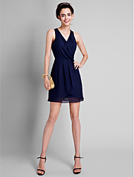 Lanting Bride Short / Mini Bridesmaid Dress A-line V-neck with