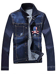 2016 new denim jacket denim jacket men's spring and autumn Korean cultivating young men with long sleeves