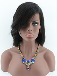 Short Lace Front Wigs Human Hair Bob Wigs For Black Women Natural Looking Bob Full Lace Human Hair Wig Side Part Bangs