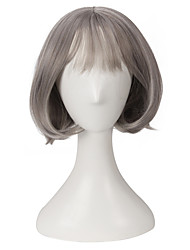 Popular Grey Short Wig Natural Looking for Europe and America Girl's Birthday Gift