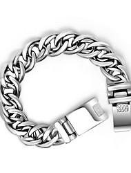 Men's Ttitanium Steel Silver Chain Braceley