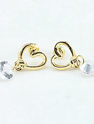 Women's Lovely Love Fashion Zircon Pendant Earrings