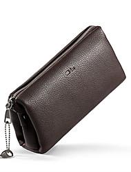 SL Top Grade Genuine Large Capacity Men Fashion Business Clutch Bag Lock Design Multi-function Clutch
