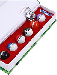 6 puxão + 1 + 1 chaveiro colar de bola em um pequeno monstro de bolso set